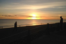 Sunset in Brighton - Internship in Brighton